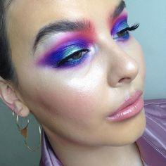 """2,812 Likes, 45 Comments - M A K E U P A R T (@rosiekalina) on Instagram: """"Today's colourful look ⚡️was a lil inspired by @apropomakeup"""""""