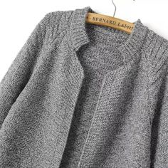 SheIn offers Grey Stand Collar Long Sleeve Knit Cardigan & more to fit your fashionable needs Long Cardigan, Knit Cardigan, Cardigans For Women, Cardigan En Maille, Cardigan Pattern, Raglan, Casual Sweaters, Sweater Fashion, Vestidos