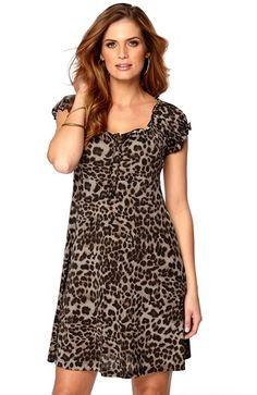 De fedeste Happy Holly Kjole Leopard Happy Holly Overdele til Outlet i dejlige materialer