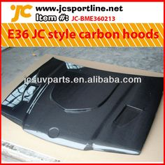 For BMW E36 4D carbon fiber engine hoods --JC Design