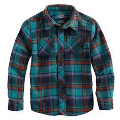 """4e28df796c4 Boys 4-7x SONOMA Goods for Lifeâ""""¢ Plaid Button Down Pocket Shirt"""