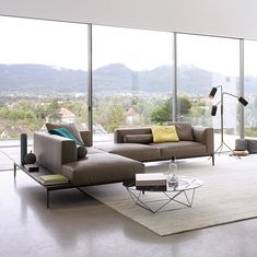 Modular sofa / contemporary / leather / multiplace JAAN by Eoos Walter Knoll