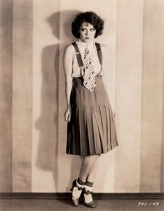 "Clara Bow in ""The Wild Party"" (1929); directed by Dorothy Arzner, costume design by Travis Banton. Original photograph by Gene Robert Richee for Paramount Pictures."