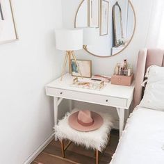 Dressing Table Makeup Home Decoration Small Room Mirror StoolBedroom Cloakroom Bathroom DIY Home Design Dressing Table HacksDressing Table Chair Storage Cosmetics Drawers. Design Set, Home Design, Interior Design, Design Ideas, Interior Plants, French Interior, Diy Interior, Interior Door, Apartment Interior