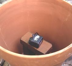 Fountain in a Pot - how to make a fountain