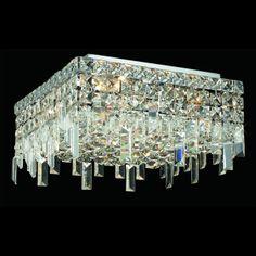 "Elegant 2033F12C-RC Maxim Mini 12"" 4-light Crystal Ceiling Lighting - ELE-2033F12C-RC"