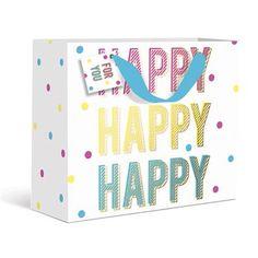 Happy Happy Happy Dots Medium Gift Bag by Graphique de France. $3.95