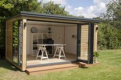 shed office ideas garden shed ideas modern garden office design creative home office ideas garden shed office ideas uk Garden Office Shed, Backyard Office, Backyard Studio, Outdoor Office, Garden Sheds, Garden Studio, Backyard Sheds, Outdoor Sheds, Diy Garden