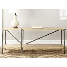 Safavieh Theodore Natural Console Table | Overstock.com Shopping - The Best Deals on Coffee, Sofa & End Tables