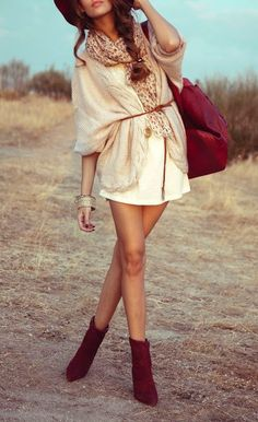Boho chic.fall outfits womens fashion clothes style apparel clothing closet ideas