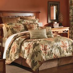 OK no one argue about this. This set is the upper MB set, has curtains… look at color match/theme. Will still pop on white and gives us endless options for couches, pillows. etc. I love this one. Croscill Classics® Grand Isle 4-pc. Comforter Set & Accessories  found at @JCPenney