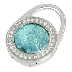 Amico Baby Blue Glittery Rhinestone Round Design Decor Foldable Handbag Hook for Women by Amico. $6.08. Total Size : 4.5 x 6.3cm/1.8 x 2.5inches;Suitable for : Lady;Pattern : Pure. Exact Color : Baby Blue,Silver Tone;Shade : Light Blue;Material : Plastic, Metallic,Rubber. Size : Small;Height : 10.5cm/4.1inches;Style : Foldable. Brand : SourcingMap;Size Type : Regular;Color : Baby Blue,Silver Tone. Net Weight : 65.1g;Package Content : 1 x Handbag Hook. Features round design, glitt...