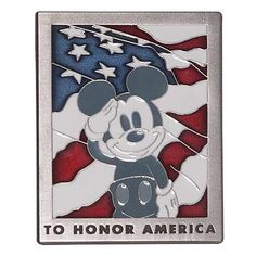 """Mickey """"Old Glory"""" Pin"""