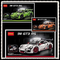 (102.20$)  Know more  - IN STOCK 2726PCS DECOOL 3368 technic series 911 GT3 RS White green orange Model Building Kits Blocks Bricks Compatible 42056