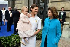 Princess Estelle, Crown Princess Victoria and Queen Silvia celebration King Carl Gustaf's 40 years on the throne 9/15/13
