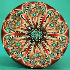 Polymer Clay Kaleidoscope Circle Cane  'Renewal' by ikandiclay, $18.00