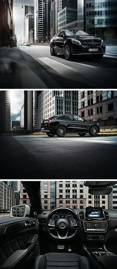 The Mercedes GLE is the boss in the city and a black beauty - from the outside and inside!