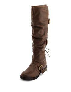 Triple Buckle Knee-High Boot