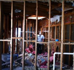 One of our #demolition team members getting the dirty work done!