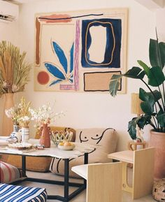 Home Decoration Ideas Images Referral: 7928246641 Living Room With Tv, Home And Living, Living Spaces, Interior And Exterior, Interior Design, Home And Deco, Bohemian Decor, Bohemian House, Bohemian Gypsy