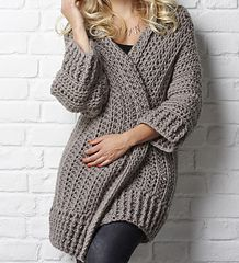 Love The Big Chill crocheted cardigan. Pattern found on ravelry.com by designer Simone Francis