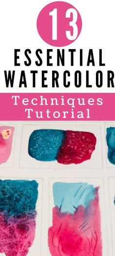 Learn these essential watercolor techniques for your watercolor paintings. Best Watercolor Paper, Watercolor Journal, Watercolor Painting Techniques, Watercolour Tutorials, Watercolour Painting, Bottom Paint, Paint Drying, Beautiful Textures, Patterns In Nature