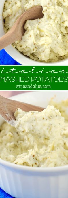 These Italian Mashed Potatoes can be made ahead of time and then popped in the oven right before the rest of the meal is served or warmed up in a slow cooker! A perfect side for holidays or just a weeknight meal!