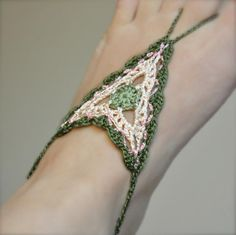 PATTERN ONLY (PDF File) -  boho barefoot crochet sandals, soleless, beach, accessories, how to make