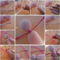 Tutorial fadas feltradas com agulha Has some possible ideas for hair styles for pegs. Translate from Portugese to Eng.