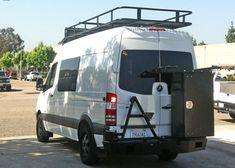 sprinter rear door storage - Google Search
