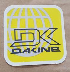 DaKine Square Yellow Logo Sticker
