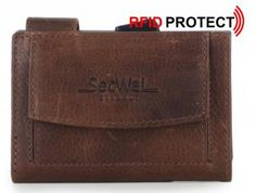 !!!SecWal Bull Kreditkartenbörse RFID Schutz braun Leder Rind, Card Case, Card Holder, Wallet, Cards, Bags, Leather, Handmade Purses, Map
