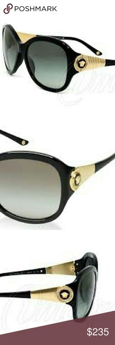 Versace Sunglasses New and authentic Versace Sunglasses  Black frame  Includes original case Versace Accessories Sunglasses