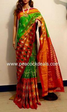 Pochampally Ikat Silk Saree-PIS231 :http://www.peacockdeals.com/product/pochampally-ikat-silk-saree-pis231/