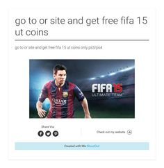 go to or site and get free fifa 15 ut coins
