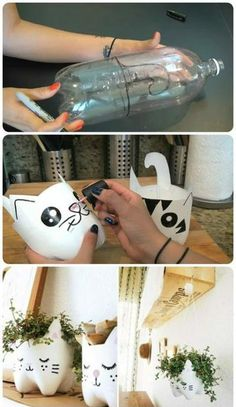 74 Ways to Reuse and Recycle Empty Plastic Bottles For Crafts Easy DIY . - trends - 74 Ways to Reuse and Recycle Empty Plastic Bottles For Crafts Easy DIY Plastic Bottle Proj - Upcycled Crafts, Diy Home Crafts, Easy Diy Crafts, Recycled Decor, Homemade Crafts, Recycled Wood, Kids Crafts, Recycled Planters, Fun Diy