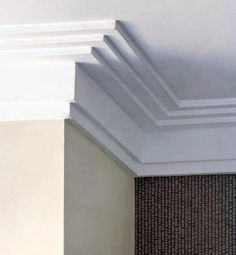 Top 70 Best Crown Molding Ideas - Ceiling Interior Designs Crown Molding Modern, Ceiling Crown Molding, Ceiling Trim, Moldings And Trim, Ceiling Design, Wall Trim, Faux Crown Moldings, Diy Crown Molding, Wooden Trim