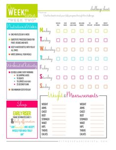 1 Week at a Time Fitness Challenge Week 2 - Fitness Fashionista Fitness Herausforderungen, Fitness Motivation, Vie Motivation, Fitness Journal, Fitness Planner, Weight Loss Motivation, Workout Fitness, Fitness Tracker, Health Planner
