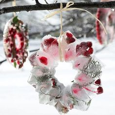 Sparkling Ice Wreath ~ Cute