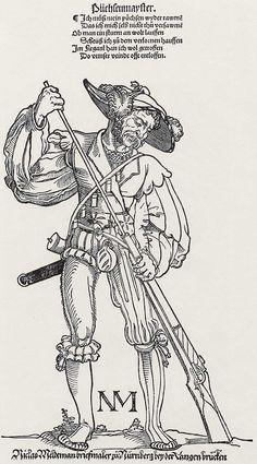 Artist: Beham, Hans Sebald, Title: »Soldaten«, Büchsenmeister, Date: ca.1535