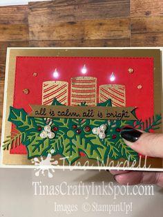Prim Christmas, Stampin Up Christmas, Christmas Candles, Christmas In July, Christmas Themes, Father Christmas, Christmas Sweets, Tarjetas Stampin Up, Stampin Up Cards