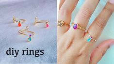 diy rings/How to make simple and delicate stackable rings at home/wire wrapped rings/Handmade rings - YouTube