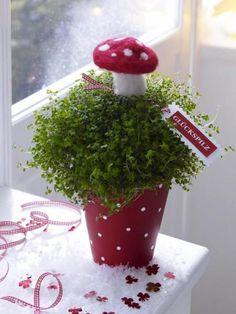 <p/><p><h2>Partydeko für Silvester</h2></p><p>Statt <b>Blumen </b>können Sie als <b>Partydeko</b> ganz einfach auch mal einen Bubikopf verschenken. Solo sieht die Pflanze vielleicht noch etwas fade aus, aber mit einigen wenigen Handgriffen und Materialien