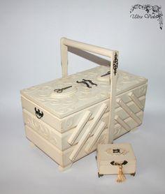 Große Nähen / Stricknadeln Box mit Nadelkissen  von UltroViolet
