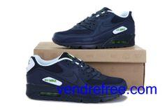 huge discount 9dbc8 c97bf Vendre Pas Cher Homme Chaussures Nike Air Max 90 (couleur blanc,bleufonce)  en ligne en France.