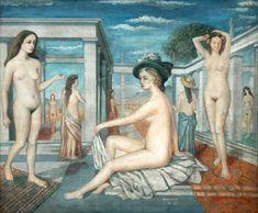 Paul Delvaux - De Courtisanen  /  Les Coutisanes, (1948) - - - ? +++ (030)