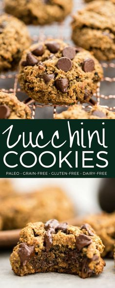 Paleo Zucchini Cookies are a healthy and nutritious recipe loaded with sneaky veggies that tastes like dessert but can be served for breakfast! They're gluten-free grain-free dairy-free paleo AND are ready in 20 minutes! Paleo Dessert, Healthy Dessert Recipes, Easy Desserts, Real Food Recipes, Baking Recipes, Cookie Recipes, Paleo Recipes, Free Recipes, Paleo Treats