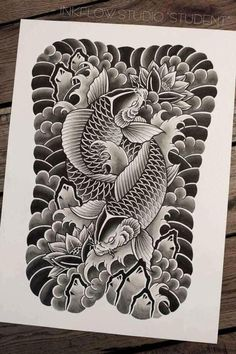 Looks like the base of a koi tattoo. Should be beautiful when finished.