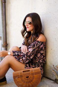 A Lily Love Affair, Top Chicago Blogger, Chicago Blogger, Free People Backless Romper, Cult Gaia Clutch