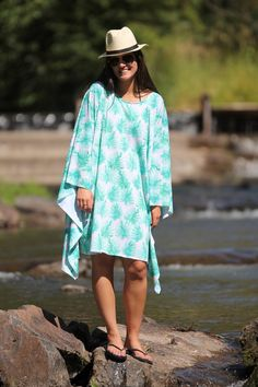 If you can sew a straight line, you can make this cute, summery caftan with two…